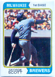 1974 Topps Baseball Cards      027      George Scott