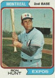 1974 Topps Baseball Cards      275     Ron Hunt