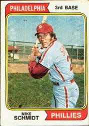 1974 Topps Baseball Cards      283     Mike Schmidt
