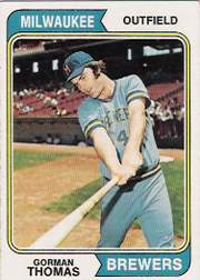 1974 Topps Baseball Cards      288     Gorman Thomas RC