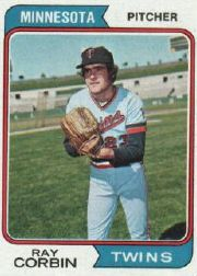 1974 Topps Baseball Cards      296     Ray Corbin
