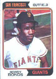 1974 Topps Baseball Cards      030      Bobby Bonds