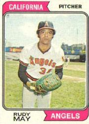 1974 Topps Baseball Cards      302     Rudy May