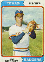 1974 Topps Baseball Cards      318     Jim Merritt