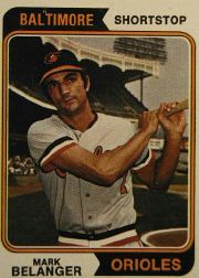 1974 Topps Baseball Cards      329     Mark Belanger