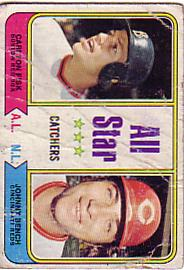 1974 Topps Baseball Cards      331     Carlton Fisk/Johnny Bench AS
