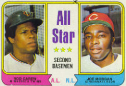 1974 Topps Baseball Cards      333     Rod Carew/Joe Morgan AS