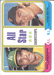 1974 Topps Baseball Cards      335     Bert Campaneris/Chris Speier AS
