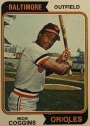 1974 Topps Baseball Cards      353     Rich Coggins