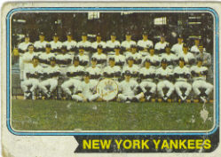 1974 Topps Baseball Cards      363     New York Yankees TC