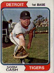 1974 Topps Baseball Cards      367     Norm Cash