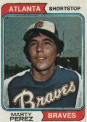 1974 Topps Baseball Cards      374     Marty Perez