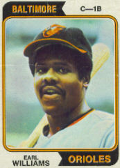 1974 Topps Baseball Cards      375     Earl Williams