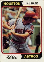1974 Topps Baseball Cards      395     Doug Rader