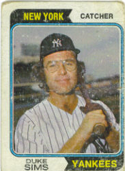 1974 Topps Baseball Cards      398     Duke Sims