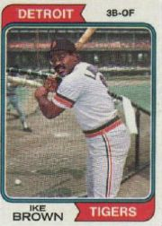1974 Topps Baseball Cards      409     Ike Brown