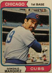 1974 Topps Baseball Cards      422     Gonzalo Marquez