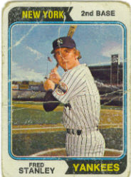 1974 Topps Baseball Cards      423     Fred Stanley