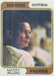 1974 Topps Baseball Cards      430     Matty Alou