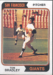 1974 Topps Baseball Cards      455     Tom Bradley