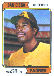 1974 Topps Baseball Cards      456     Dave Winfield RC