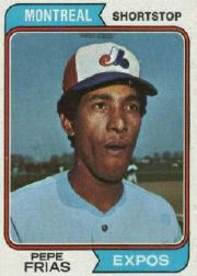1974 Topps Baseball Cards      468     Pepe Frias