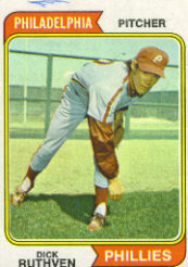 1974 Topps Baseball Cards      047      Dick Ruthven RC