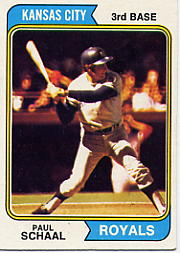 1974 Topps Baseball Cards      514     Paul Schaal