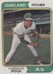 1974 Topps Baseball Cards      516     Horacio Pina