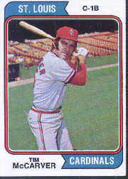 1974 Topps Baseball Cards      520     Tim McCarver