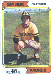 1974 Topps Baseball Cards      053A     Fred Kendall SD