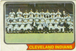 1974 Topps Baseball Cards      541     Cleveland Indians TC