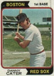 1974 Topps Baseball Cards      543     Danny Cater