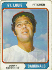 1974 Topps Baseball Cards      548     Sonny Siebert