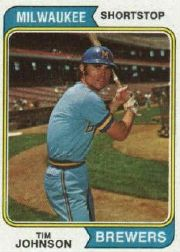 1974 Topps Baseball Cards      554     Tim Johnson RC