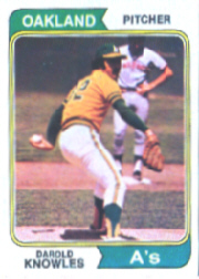 1974 Topps Baseball Cards      057      Darold Knowles