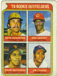 1974 Topps Baseball Cards      598     Dave Augustine/Steve Ontiveros/Jim Tyrone/Ken Griffey RC