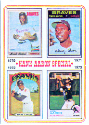 1974 Topps Baseball Cards      006       Hank Aaron Special 70-73