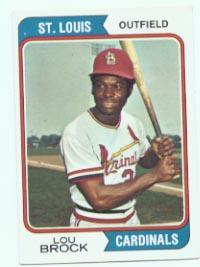 1974 Topps Baseball Cards      060      Lou Brock