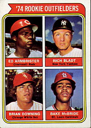 1974 Topps Baseball Cards      601     Ed Armbrister/Rich Bladt/Brian Downing/Bake McBride RC
