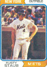 1974 Topps Baseball Cards      629     Rusty Staub
