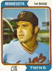 1974 Topps Baseball Cards      659     Joe Lis