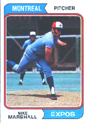 1974 Topps Baseball Cards      073      Mike Marshall