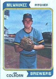 1974 Topps Baseball Cards      075      Jim Colborn