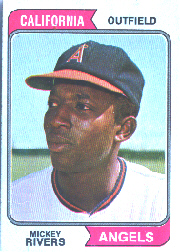 1974 Topps Baseball Cards      076      Mickey Rivers