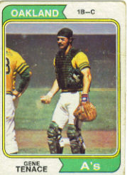 1974 Topps Baseball Cards      079      Gene Tenace