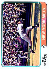 1974 Topps Baseball Cards      080      Tom Seaver