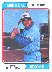 1974 Topps Baseball Cards      097      Bob Bailey