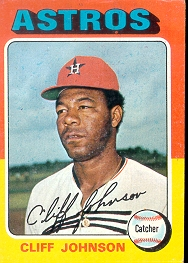1975 Topps Baseball Cards      143     Cliff Johnson RC