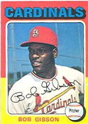 1975 Topps Mini Baseball Cards      150     Bob Gibson